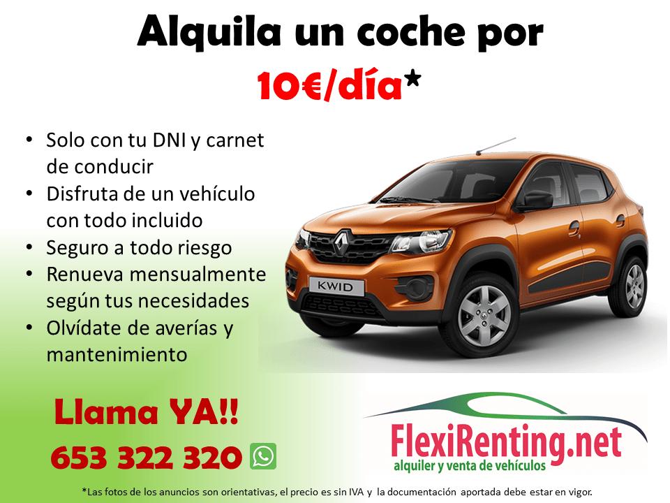 alquilar coche POR 10€ AL DÍA en Valencia
