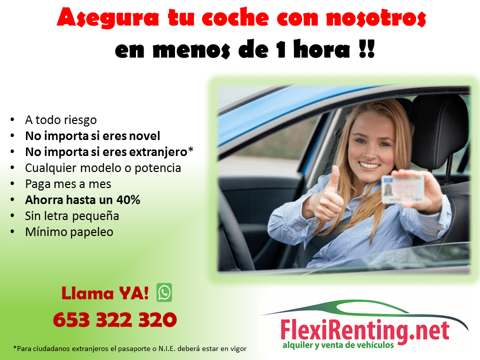 Asegura tu coche en Valencia con Flexirenting