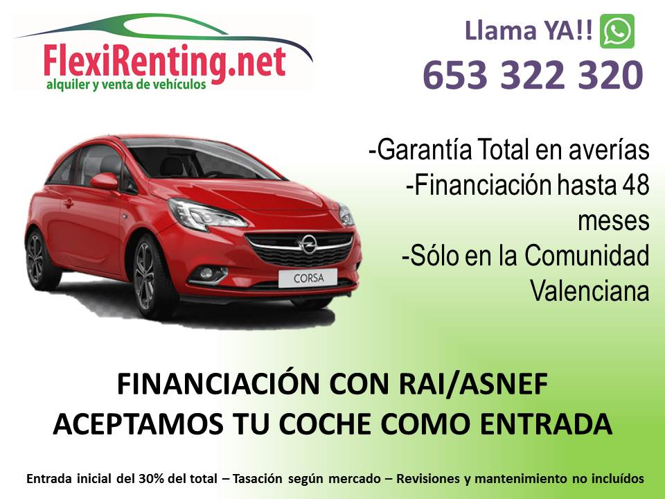 Financiación Renting Particulares En Valencia