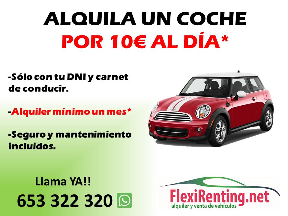 alquiler de coche por 10€ dia