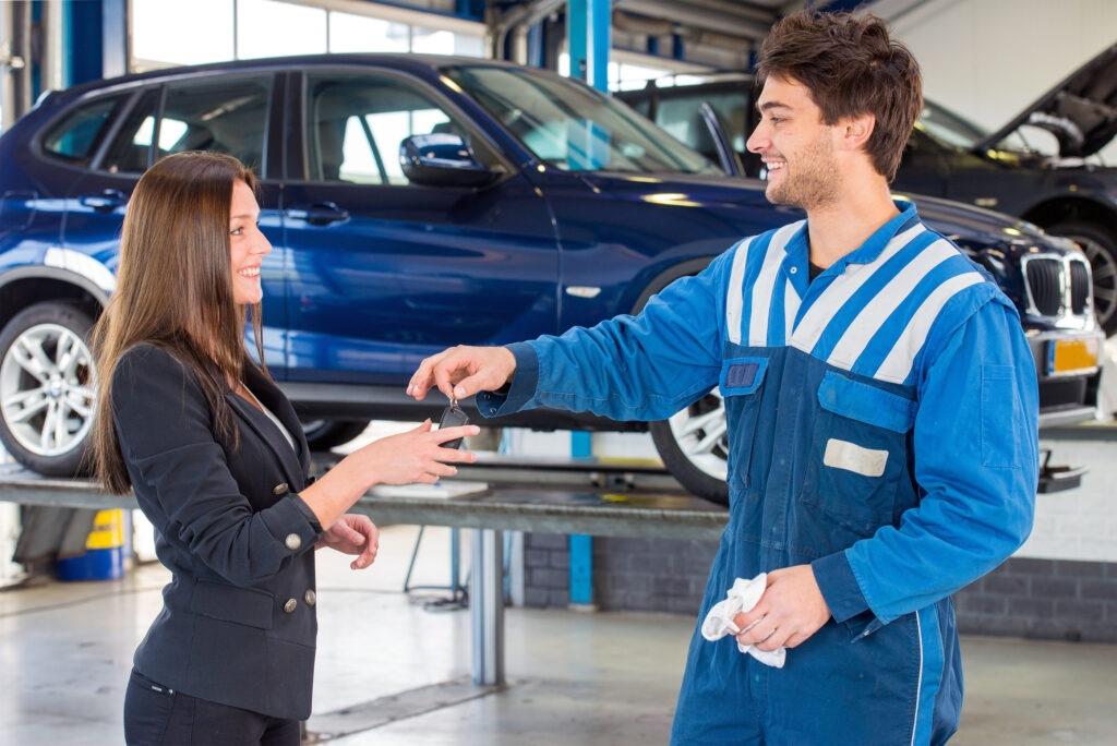 recogida de vehículos en taller